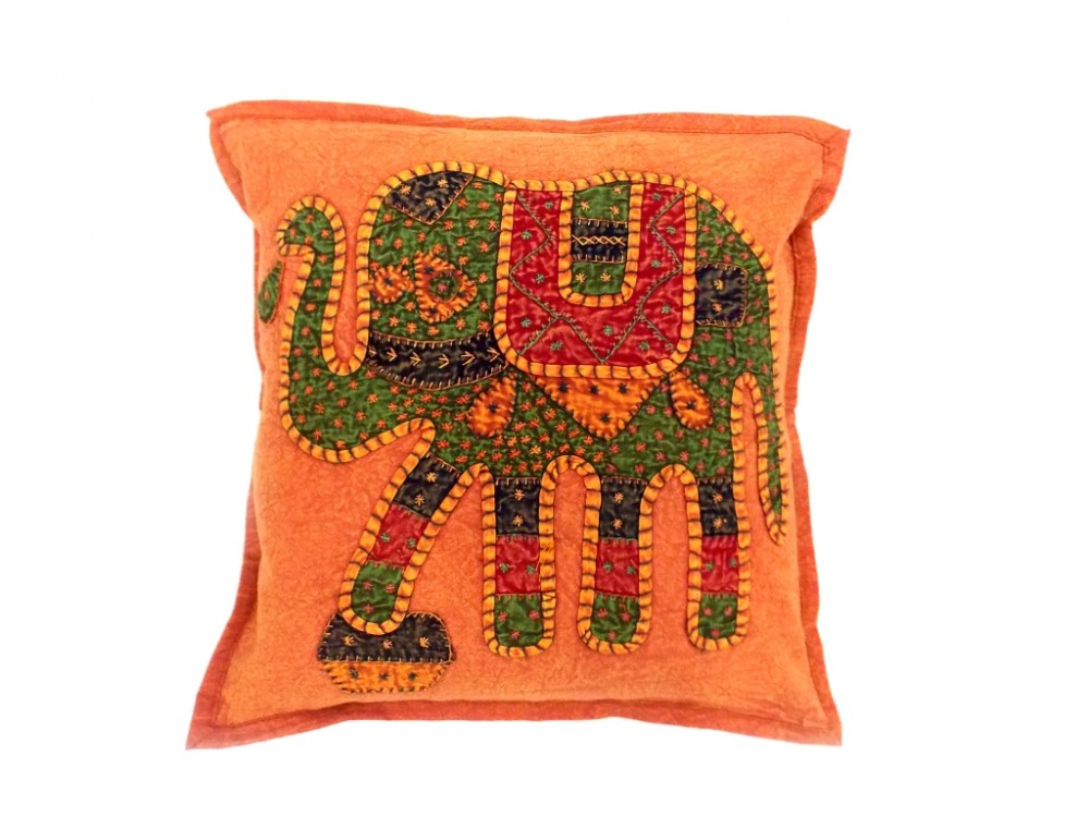 Fabric Design For Pillow Cover: JAIPURI CUSHION COVER PILLOW CASE ELEPHANT DESIGN COTTON FABRIC    ,